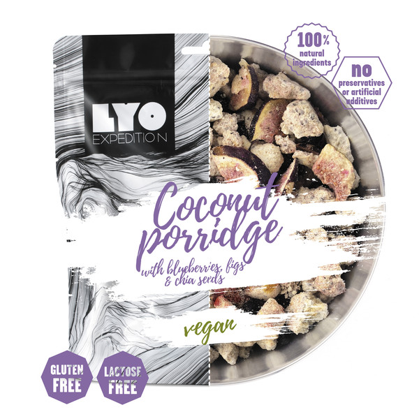 Lyo Expedition COCONUT PORRIDGE with blueberries, figs &  chia seeds