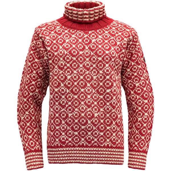 Devold SVALBARD SWEATER HIGH NECK Unisex - Stickad tröja