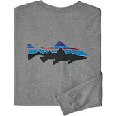 Patagonia M' S L/S FITZ ROY TROUT RESPONSIBILI-TEE Herr -