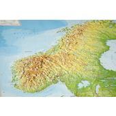 Relief Skandinavien ohne Rahmen