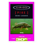 Vision PIKE WIRE LEADER 30lb/7FT  -