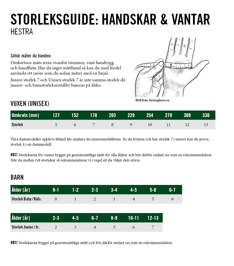 FÄLT GUIDE GLOVE - 5 FINGER