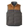 Patagonia M' S REVERSIBLE BIVY DOWN VEST Herr - FORGE GREY W/BEAR BROWN