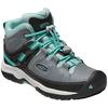 Keen TARGHEE MID WP YOUTH Barn - STEEL GREY/WASABI
