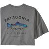 Patagonia M' S FRAMED FITZ ROY TROUT RESPONSIBILI-TEE Herr - GRAVEL HEATHER