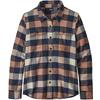 Patagonia W' S L/S FJORD FLANNEL SHIRT Dam - UPRIVER: CENTURY PINK