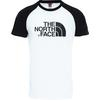 The North Face M S/S RAGLAN EASY TEE Herr - TNF WHITE-TNF BLACK