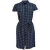 Barbour LORNE DRESS Dam - NAVY/WHITE