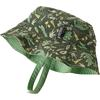 Patagonia BABY SUN BUCKET HAT Barn - ALLIGATORS AND BULLFROGS: KALE