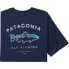 Patagonia M' S FRAMED FITZ ROY TROUT ORGANIC T-SHIRT Herr - CLASSIC NAVY