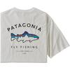 Patagonia M' S FRAMED FITZ ROY TROUT ORGANIC T-SHIRT Herr - WHITE
