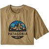Patagonia M' S FITZ ROY SCOPE ORGANIC T-SHIRT Herr - CLASSIC TAN
