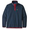 Patagonia M' S MICRO D SNAP-T P/O Herr - NEW NAVY W/CLASSIC RED