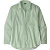 Patagonia W' S LW A/C BUTTONDOWN Dam - SIMPLE DIMPLE: GYPSUM GREEN