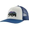 Patagonia FITZ ROY BEAR TRUCKER HAT Unisex - WHITE