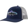 Patagonia FITZ ROY TROUT TRUCKER HAT Unisex - CLASSIC NAVY