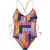 Patagonia W' S GLASSY DAWN 1PC SWIMSUIT Dam - PATCHWORK WATERCOLOR: MARBLE P