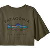 Patagonia M' S FRAMED FITZ ROY TROUT ORGANIC T-SHIRT Herr - BASIN GREEN