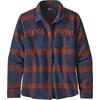 Patagonia W' S L/S FJORD FLANNEL SHIRT Dam - BURLWOOD: NEW NAVY