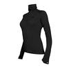 Icebreaker TECH TOP LS HALF ZIP W Dam - BLACK