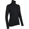 Icebreaker WMNS TECH TOP LS HALF ZIP Dam - BLACK
