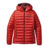 Patagonia W' S DOWN SWEATER HOODY Dam - COCHINEAL RED/DARK CURRANT