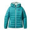 Patagonia W' S DOWN SWEATER HOODY Dam - TOBAGO BLUE/ARCTIC MINT