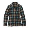Patagonia W' S L/S FJORD FLANNEL SHIRT Dam - WINDROW: BLACK