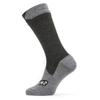 Sealskinz ALL WEATHER MID SOCK Unisex - BLACK/GREY MARL