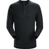 Arc'teryx SIRRUS LS HENLEY MEN'S Unisex - BLACK HEATHER