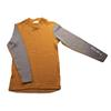 Aclima K WARMWOOL SHIRT CREW NECK Barn - SUDAN BROWN/FROST GREY