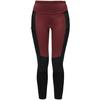 Haglöfs FJELL HYBRID TIGHTS WOMEN Dam - MAROON RED/TRUE BLACK