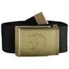 Fjällräven CANVAS BRASS BELT 4 CM Unisex - BLACK