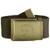 Fjällräven CANVAS BRASS BELT 4 CM Unisex - DARK OLIVE