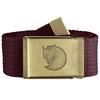 Fjällräven CANVAS BRASS BELT 4 CM Unisex - DARK GARNET