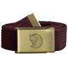 Fjällräven CANVAS BRASS BELT 3 CM. Unisex - DARK GARNET