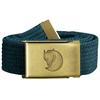 Fjällräven CANVAS BRASS BELT 3 CM. Unisex - GLACIER GREEN