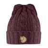 Fjällräven BRAIDED KNIT HAT Unisex - DARK GARNET