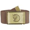 Fjällräven CANVAS BRASS BELT 4 CM Unisex - DARK SAND