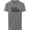 Black Diamond M STACKED LOGO TEE Herr - CHARCOAL HEATHER