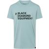 Black Diamond M STACKED LOGO TEE Herr - BLUE ASH