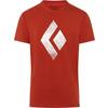 Black Diamond M SS CHALKED UP TEE Herr - RED ROCK
