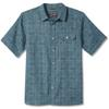Royal Robbins COOL MESH ECO PRINT S/S Herr - MAUI BLUE