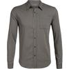 Icebreaker MENS COMPASS FLANNEL LS SHIRT Herr - MONSOON/BRITISH TAN