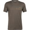 Icebreaker MENS TECH LITE SS CREWE SINGLE LINE CAMP Herr - DRIFTWOOD